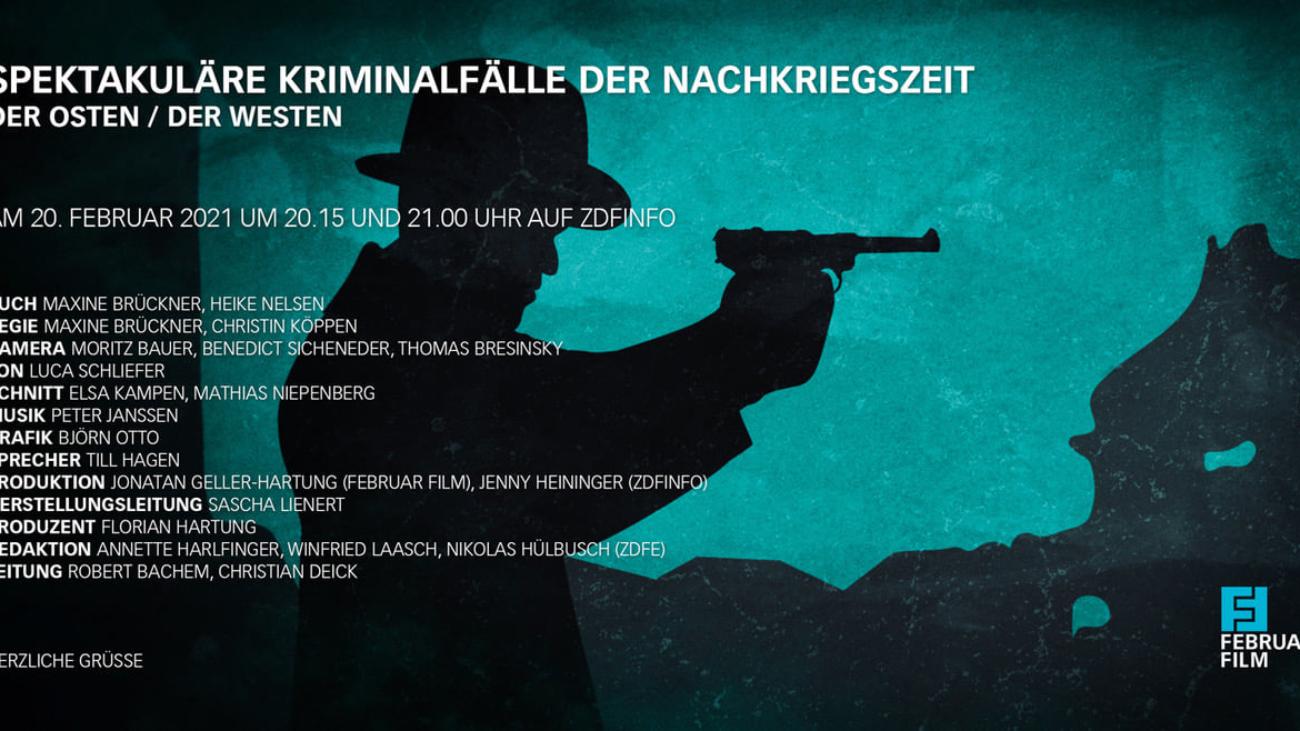 """Februar Film """"Spektakuläre Kriminalfälle der Nachkreigszeit"""" - ZDF Neo"""